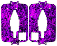 Traxxas T-maxx 3.3 - Chassis Plate Protector Kit - Purple Flames