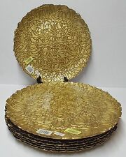 ChargeIt by Jay Reef Charger Plate, Ornate Gold Made in Turkey (Dillards) NEW
