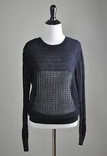 ALLSAINTS Spitalfields $168 Ernst Loose Sheer Knit Jumper Sweater Top Size 10