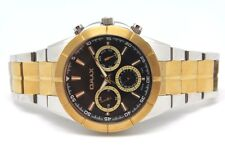 Omax  Men's All Stainless Steel Tone Two Watch Black Chrono Dial waterproof