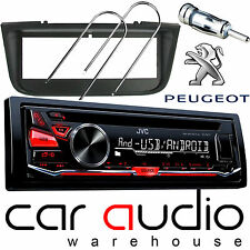 Peugeot 406 JVC CD MP3 USB AUX RED Display Car Stereo Radio Player & Fitting Kit
