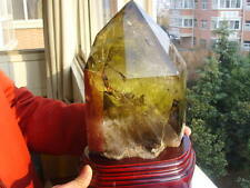 8700g  Rainbow!! Natural Citrine  quartz crystal point healing d hj1327