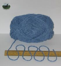 95g ball Blue Boucle 100% Pure British Breed Wool double knitting dk yarn EFW806
