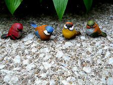 Mini Resin Bird Figurine Set of 4