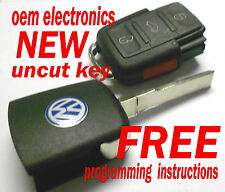 NEW VW VOLKSWAGEN KEYLESS REMOTE ENTRY UNCUT FLIP KEY TRANSMITTER HLO1J0959753DC