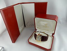 Cartier Tank Divan Lady Watch Yellow Gold /18k. TOP Luxusausführung/Box Papiere