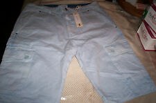 NWT!  $89 DIESEL YOUTH PANSI LIGHT BLUE CARGO SHORTS SIZE 14Y