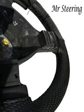 FOR DODGE RAM MK4 2500 BLACK PERFORATED LEATHER STEERING WHEEL COVER 2009-2015