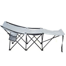 Folding Portable Camping Adventure Camp Bed Durable Hammock Sleeping Cot Steel