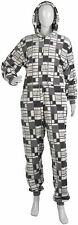 Fluffy Check Onesie with Hood by Waites Lingerie Size 10-12 Pyjamas Sleepsuit