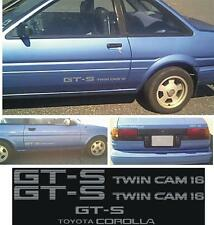 Toyota Corolla GTS Twin Cam 16 Decals Sides and Trunk