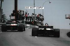 9x6 fotografía Eddie Cheever/Derek Warwick, Gran Premio de Mónaco 1982