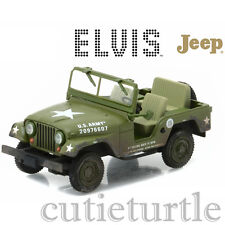 Greenlight Elvis Presley 1963 US Army Jeep Willy's Cold War ERA CJ-5 1:43 86311