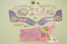 """16"""" RALEIGH MOLLY DECAL TRANSFER SET,STICKER PACK SUIT GIRLIE BIKES WTFRM16"""