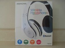 Memorex Over the Ear Rechargeable Wireless Bluetooth Headphones White MHBT0545W
