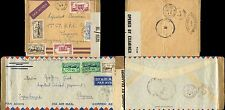 MARTINIQUE to FR.GUIANA 1941-44 BRITISH + FRENCH CENSORS AIRMAIL ENVS...2 TYPES