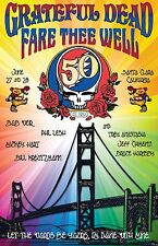 Grateful Dead Fare Thee Well Concert Poster Santa Clara June 27/28 2015