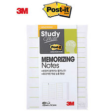 2 Pack x 3M POST-IT Study Mate MEMORIZING Notes 657 Super Sticky Notes Memo