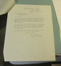1954 General Edward Kreger Autograph Signed Letter Distinguished Service Cross
