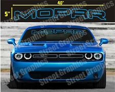 MOPAR TOP WINDSHIELD VINYL DECAL STICKLER BANNER, CHARGER, CHALLENGER, RAM