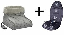 Massage Heated Seat Cushion + Heated Massage Foot Warmer Winter Gift Pack