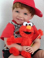 "Reborn 22"" Toddler Boy doll ""Elliott and Elmo"""
