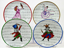 "Avon NUTCRACKER SUITE 7"" Dessert Plate Set 4Pc Mouse King Clara Sugar Plum Fairy"