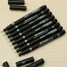 8pcs/Set Drawing Pen Technical Art FineLine 0.05/0.1/0.2/0.3/0.4/0.5/0.7/0.8mm