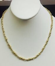 "10kt Solid Yellow Gold Handmade NUGGET link chain/necklace 24"" 29 grams 4.5 MM"