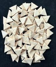 100 Bisque Mosaic Ceramic Triangles Tiles