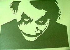 NEW M2 THE DARK KNIGHT JOKER BATMAN Airbrush Stencil Mask Paint Step Movie