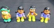 Set of 3 Plastic Indian Toy Figurines and Boy Pilot Figurine 1992