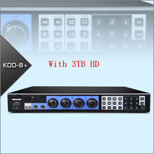 KOD-8+ Jukebox Mixer KARAOKE MICROPHONE Machine System Player W/HDMI W/3TB HD