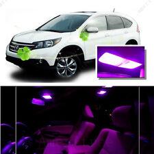 For Honda CRV 2007 - 2012 Pink LED Interior Kit + Pink License Light LED