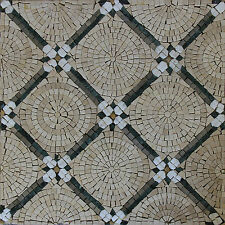 Spiral Diamond Handmade Art Field Tiles Decor Marble Mosaic HF40