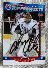 Florida Panthers Jacob Markstrom Signed 11/12 AHL Top Prospects Card Auto