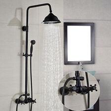 """Oil Rubbed Bronze Bath 8""""Rain Shower Faucet Valve Mixer Tap W/Handhend Shower"""