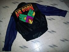 CANADA AIR FORCE WORLD FREE STYLE SKIING AIR BORN LEATHER VARSITY BOMBER JACKET