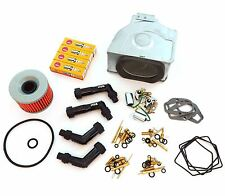 Deluxe Tune Up Kit - Plugs Caps Oil Air Filter Carb Kits - CB550 CB550K 74-76