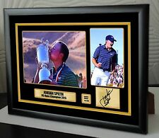"Jordan Spieth US Open 2015 Golf Framed Canvas Tribute Print Signed ""Great Gift"""
