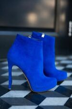 Electric: Nicholas Kirkwood £550 Blue Suede Booties Ankle Boots IT36/5UK3.5