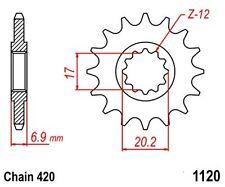 KR Ritzel 12Z Teilung 420 MALAGUTI XSM 50 03-09 New... front sprocket