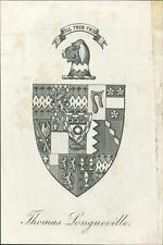 Thomas Longueville. Bookplate    QR112