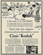 PUBLICITE CINE KODAK CAMERA APPAREIL PHOTO ENFANT JEU BALLON DE 1927 FRENCH AD