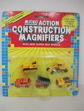 Micro  Action CONSTRUCTION MAGNIFIERS - 1989 Funrise - 5 Micro Vehicles - #10130