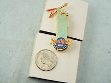 HARD ROCK CAFE LAPEL PIN NEW YORK STATUE OF LIBERTY STOP IN THE NAME OF ROCK
