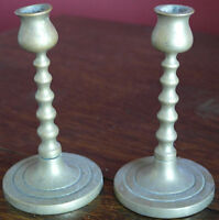 vintage brass pair of CANDLE STICKS