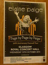 "Elaine Paige - Glasgow 2014 ""farewell tour"" concert gig poster"