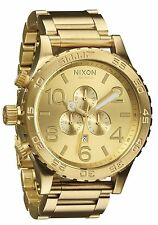 NIXON THE 51-30 CHRONO ALL GOLD A083 502 6 HAND JAPANESE QUARTZ SECOND SUB DIAL