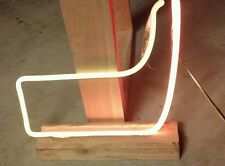 NHL Hockey stick Neon Sign Part Piece Tube puck Beer Light Mancave letter script
